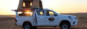 Dachzeltreise Oman, Sonnenuntergang in der Wüste