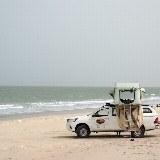 Weißer Sandstrand und Meerblick
