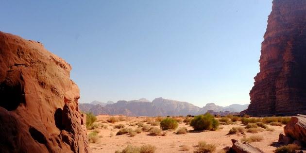 Blick auf die beeindruckende Wüste