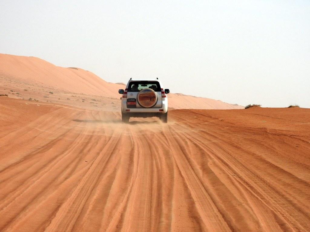 Anfahrt zum Camp in der Wahiba Wüste