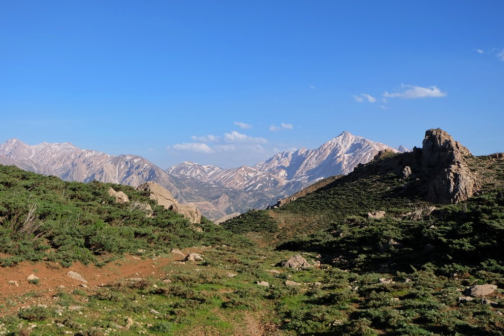 Grandiose Aussicht über die Berge