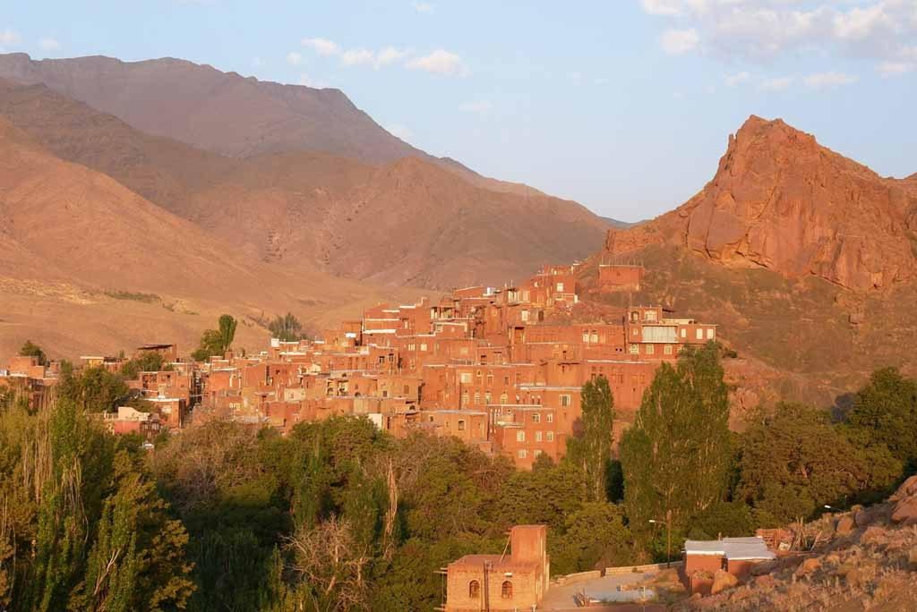Ausblick auf das Dorf Abyaneh