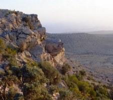 Eine besondere Athmosphäre herrscht während des Sonnenuntergangs auf den Bergen.
