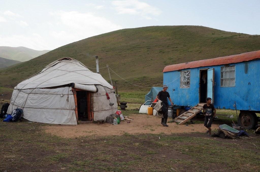 Startpunkt bei einer Familie nahe des Kyzart Passes