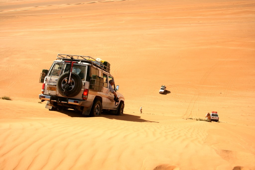 Besonders in der Wüste kommt der Spaßfaktor nicht zu kurz!
