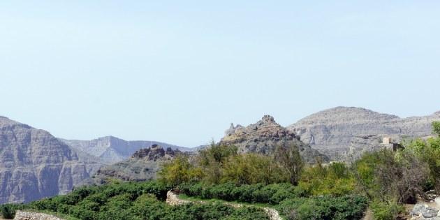 Während einer Wanderung durch die sonst so kargen Berge treffen Sie immer wieder auf kleine angelegte Gärten.