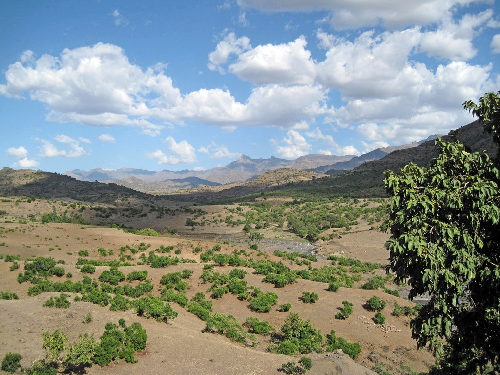 Panorama-Blick über Äthiopien