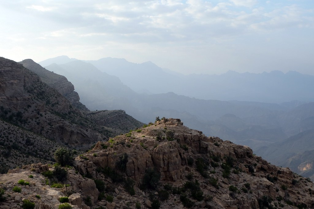 Das Hajjar Gebirge erstreckt sich über mehrere hundert Kilometer durch den Oman.