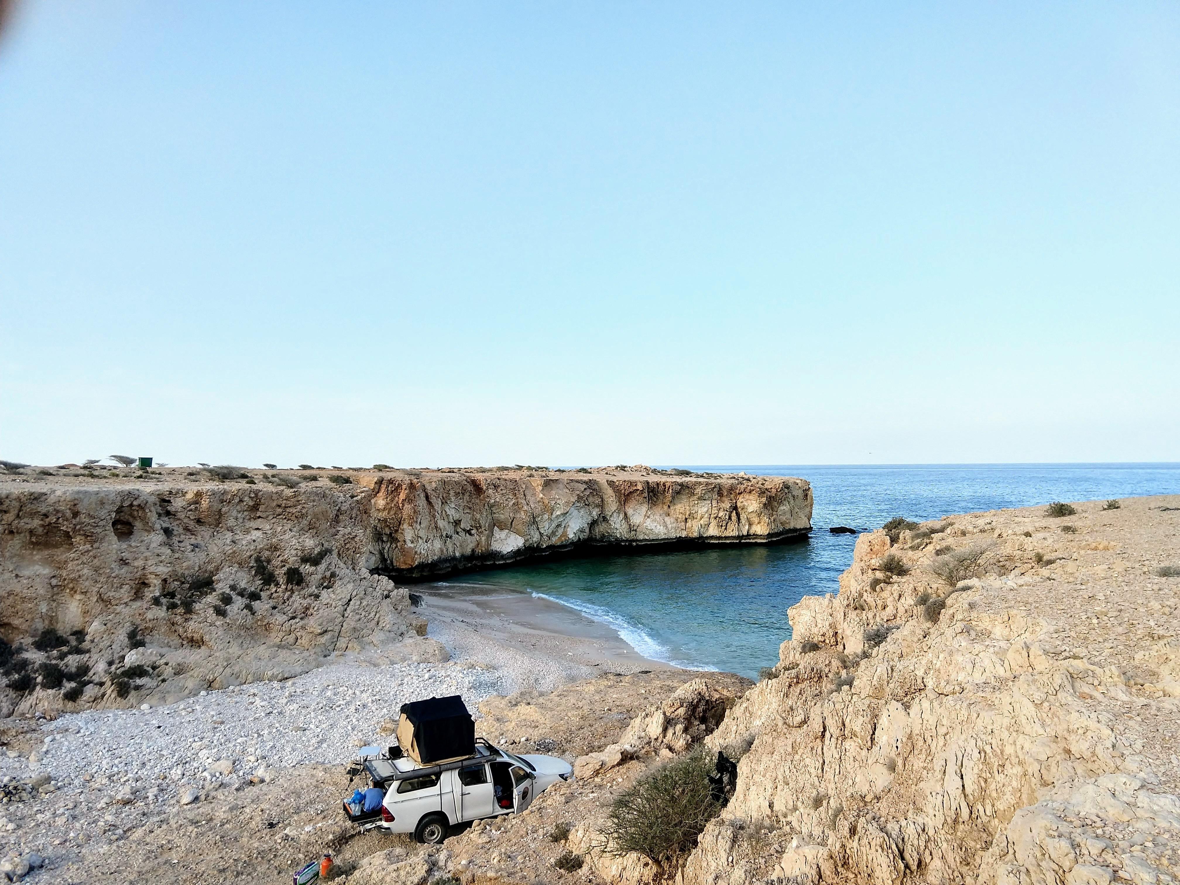 Campingspot in einer Bucht
