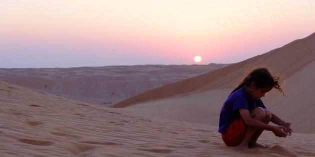 Die Wüste ist für Kinder eine echtes Highlight