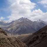 Blick auf die Berge in Afghanistan