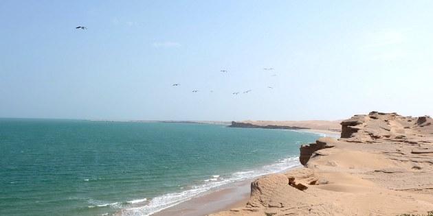 Dieser Küstenabschnitt ist eine der einsamsten Gegenden des Landes.