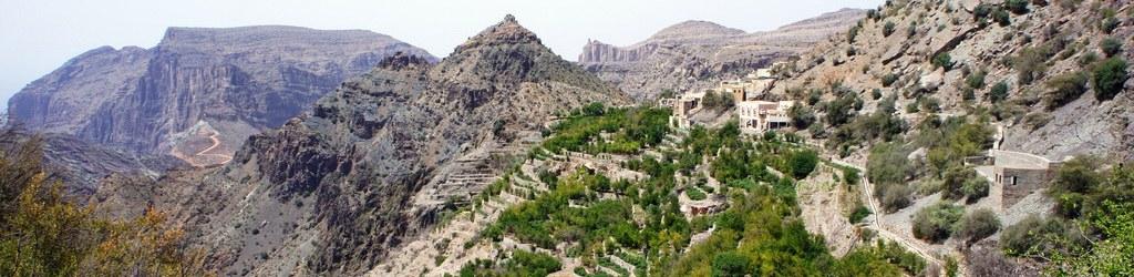 Landschaften während Oman Reisen