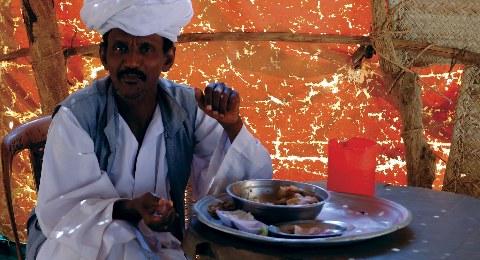 Mittagessen im Sudan