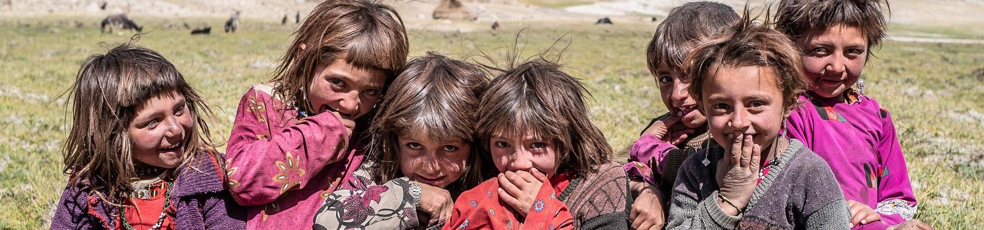 Freundliche Kinder in Zentralasien