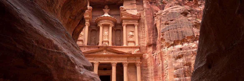 Die rosa Felsenstadt Petra